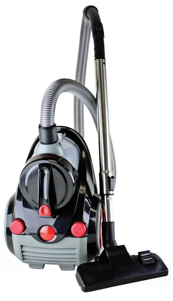 Ovente Bagless Canister Cyclonic Vacuum with HEPA Filter,