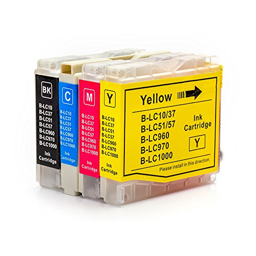 Compatible Ink Cartridge for Brother LC-51 LC51 Series, Replaces Brother DCP 130C 330C 540CN MFC-230C 3360C 5460CN IntelliFax 1360 (1 Black, 1 Cyan, 1 Magenta, 1 (Mfc 3360c Color)