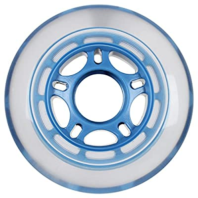 Player's Choice Roller Hockey Wheels Indoor 80mm 78A Soft Inline Skate Clear/Blue 4 Pack : Sports & Outdoors
