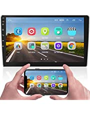 Hikity Double Din Android Car Stereo with GPS 9 Inch Touch Screen Car Radio Bluetooth FM Radio Support WiFi Mirror Link SWC Dual USB Input + Backup Camera