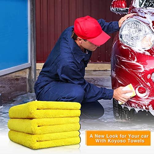 1200 GMS Extremadamente Absorbente para Coche Lavado Pulido Auto 3 pcs Koyoso Toalla de la Limpieza del Coche Pa/ño Microfibra de Coche