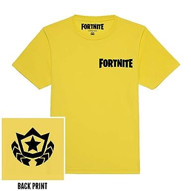 cd2471619 Fortnite Battle Star Youth Kid's T-Shirt: Amazon.co.uk: Clothing
