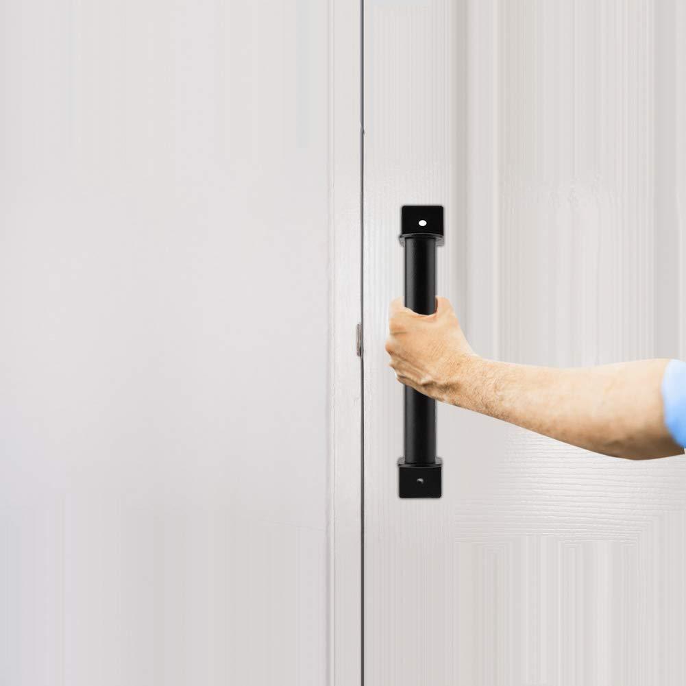 nero resistente in acciaio al carbonio Barn maniglia in acciaio INOX Pull maniglia per porta scorrevole Barn Closet Wooden Gate Hardware