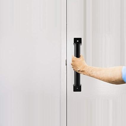 ... tirador de acero al carbono resistente negro para puerta corrediza, puerta de entrada, herraje de puerta de madera: Amazon.es: Bricolaje y herramientas