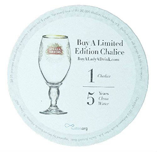 Acquisition Stella Artois Buy a Lady a Drink Heavy Card Stock Coasters (Pack of 25) offer