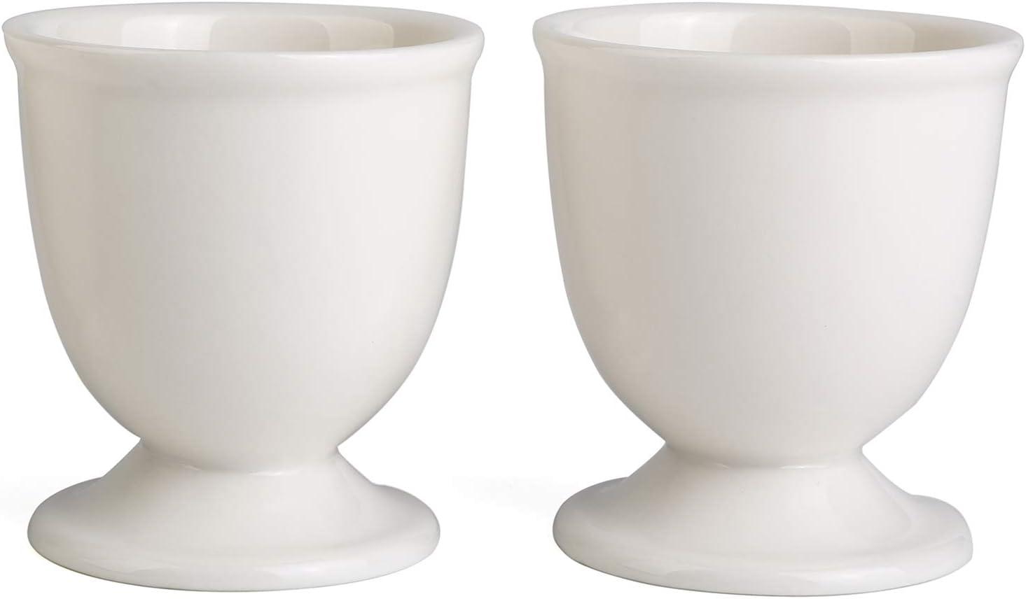 Ceramic Egg Cups Set of 2 for Soft Hard Boiled Eggs