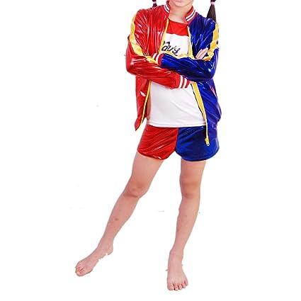 Darcylibisy Disfraces de Halloween para Niñas Niños Harley Quinn Traje  Suicide Squad Cosplay Ropa Conjuntos 9f5e8589808a