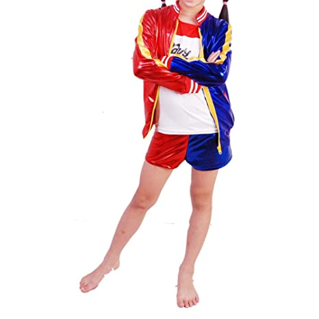 Darcylibisy Costumi di Halloween per Le Ragazze dei Bambini Giochi di Ruolo Harley  Quinn Costume Suicide aa70bcb003d