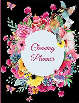 amazon cleaning planner black book colorful flowers 2019 weekly