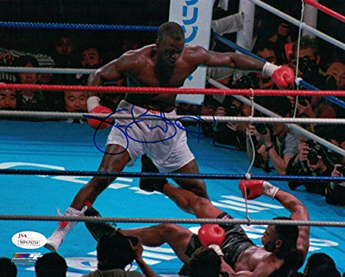 Buster Douglas Autographed Signed Boxing 8x10 Photo Over Tyson - JSA Certified