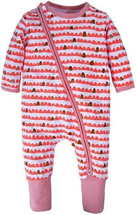Big Elephant Baby Girls1 Piece Long Sleeve Pajama Graphic Print Zipper Romper