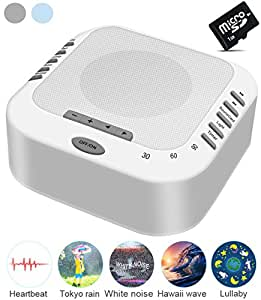 hanpro white noise machine with 5 natural sound options idea for tinnitus sufferers. Black Bedroom Furniture Sets. Home Design Ideas