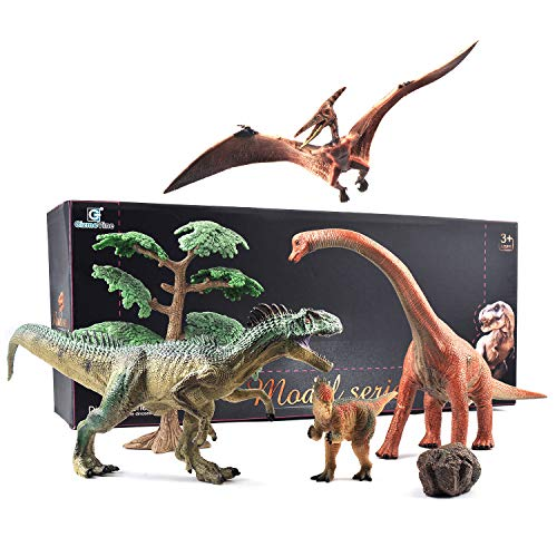 Gizmovine Jumbo Dinosaur Toys Set - Educational Realistic Dinosaur Figures with Hand Painted for 3, 4, 5, 6, 7, 8 Year Old Boys and Girls (W3A)