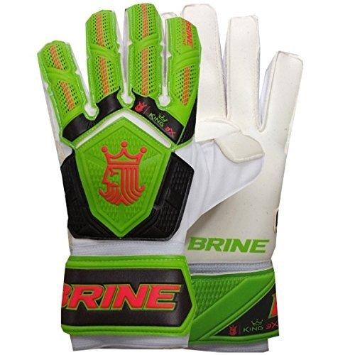 Brine ゴールキーパー グローブ 王様 試合 3倍 サッカー ゴールキーパー用グローブ 指を守る 背骨保護 B07C65L53H 9|Lime / Orange Lime / Orange 9