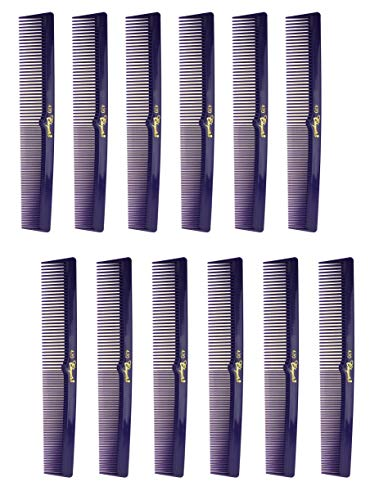 (7 Inch Hair Cutting Combs. Barber's & Hairstylist Combs. Purple 1 DZ.)