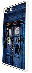 597 - Walking Dead Hands Doctor Who Tardis Police Call Box Design For Sony Xperia M5 Fashion Trend CASE Back COVER Plastic & Thin Metal - White