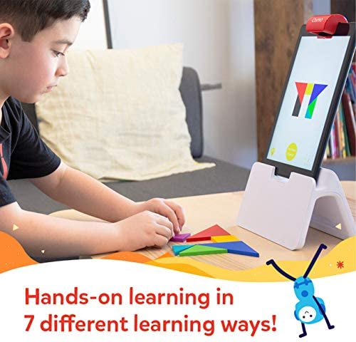 Osmo - Genius Starter Kit For Fire Tablet + Family Game Night - 7 Educational Learning Games For Spelling, Math & More - Ages 6-10 - STEM Toy Fire Tablet Base Included - Amazon Exclusive