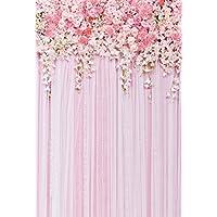 5x7ft Pink Flowers Backdrop Photography Background Wedding Background floral Photography Backdrops dessert bar backdrop D-9354