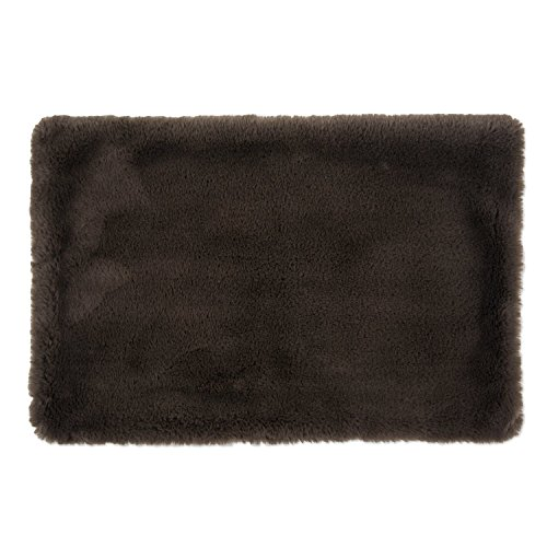 Bone Dry DII Faux Fur Silky Soft Large Pet Cage Liner for Dogs & Cats, 18x30, Perfect for Kennels, Car Trips, Floors, Crates-Brown