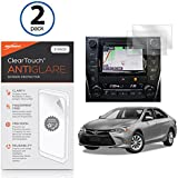 Toyota 2016 Camry (6.1 in) Screen Protector, BoxWave [ClearTouch Anti-Glare (2-Pack)] Anti-Fingerprint Matte Film Skin for Toyota 2016 Camry (6.1 in)
