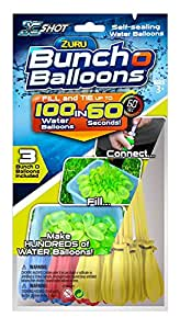 Bunch O Balloons Zuru Instant Water Balloons - Color May Vary (3 bunches - 100 Total Water Balloons)
