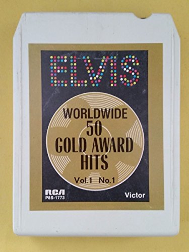 ELVIS PRESLEY Worldwide 50 Gold Award Hits Vol 1 No 1 8 Track Tape 1970 P8S ()