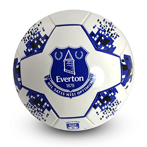 Everton Fc Crest (Everton FC Official Crest Design Nova Soccer Ball(Size 5) (Size 5) (White/Blue))