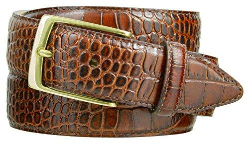 Joseph Gold Buckle Men's Designer Leather Dress Belt 1-3/8