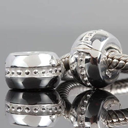 sterling silver pandora clips - 6