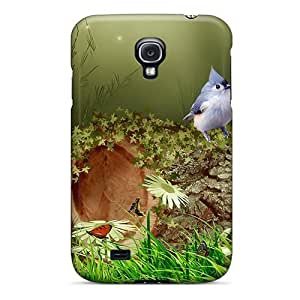 MMZ DIY PHONE CASEMialisabblake Case Cover For Galaxy S4 - Retailer Packaging Bird In The Forest Protective Case