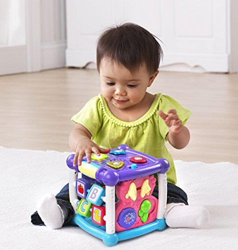 5168gJHS7zL - VTech Busy Learners Activity Cube - Purple - ONLINE EXCLUSIVE