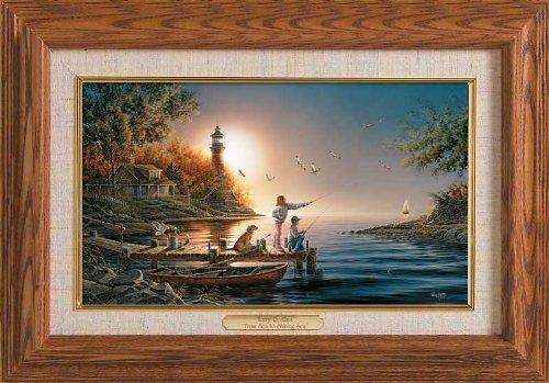 From Sea to Shining Sea Framed Oak Master Stroke by Terry Redlin