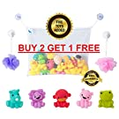 Baby Bath Toy Organizer Set Buy 2 Get 1 Free Use Code PIQG5B6I Comes with 5 Bath Toys for Gift Boys Girls Toddlers Large Net + 2 Extra Strong Suction Cups