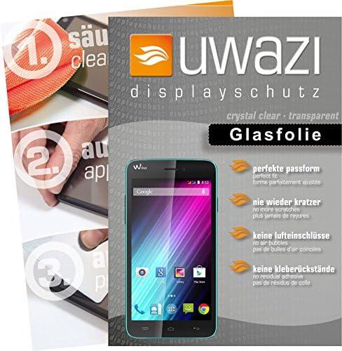 uwazi Wiko Lenny Semi Glasfolie - gehärtete Schutzfolie mit Spezialbeschichtung gegen Fingerabdrücke