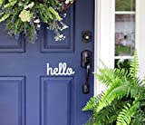 """Cute Porch Door Lettering Letting The Neighbors Know you are Friendly Inviting Welcoming. Measures: 3.5"""" tall and 7.5"""" wide."""