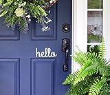 White Hello - Front Door Vinyl Decal Sign