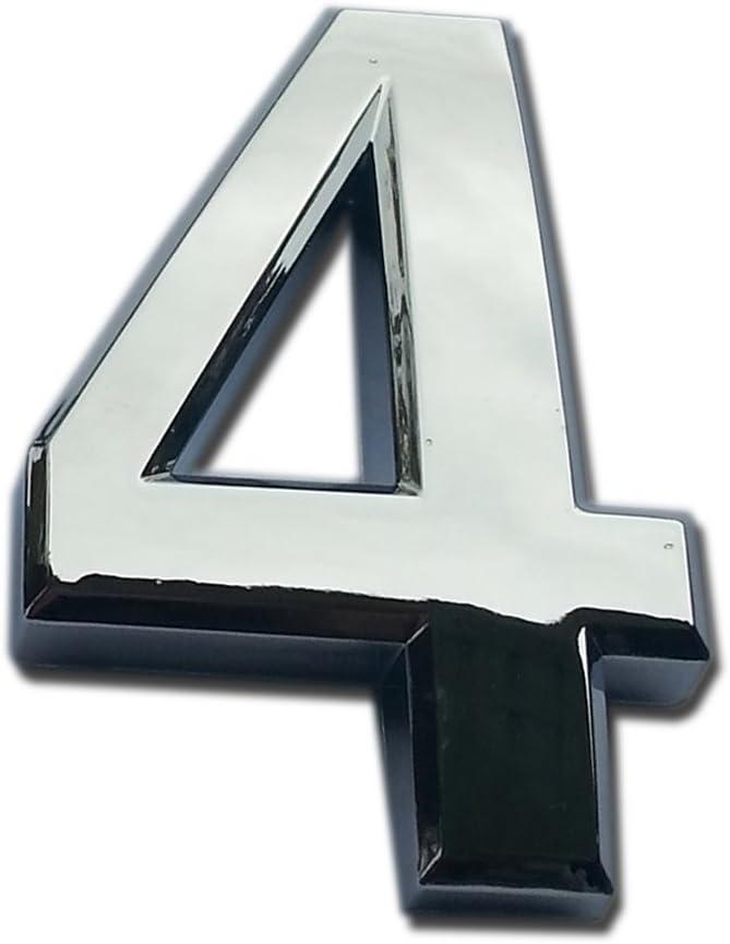 2 pulgadas 1 para puerta casa buz/ón y direcci/ón de calle 2 paquetes Do4U de n/úmeros de puerta autoadhesivos con placa dorada reflectante