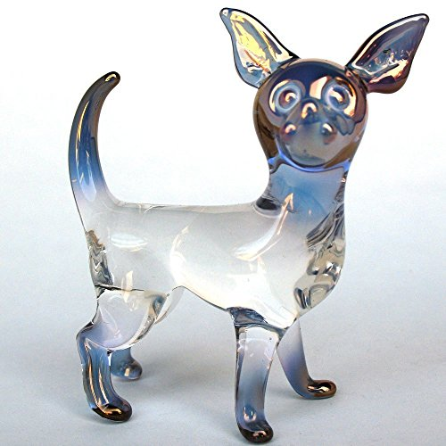 Chihuahua Figurine of Hand Blown Glass