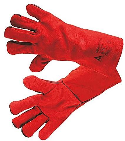 Guantes de soldar mühl doméstica Rojo Talla XL (10) – para Mig/Mag