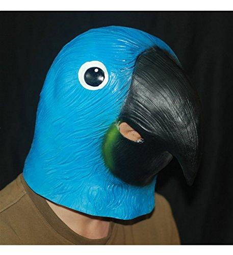 micrkrowen Halloween Party Cosplay Mask emulsion headgear Jays Blue Parrot -