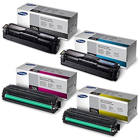 Samsung SL-C1810W Standard Yield Toner Set BK 2500/Color 1800 Pages (Samsung Laser Printer C1810w)