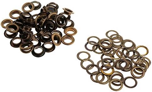 約50個入り ワッシャー 服装改造 レザークラフト アクセサリー 金属アイレット ファッション 全10種選べ - ブロンズ, 15mm