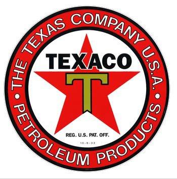 Texaco Petroleum Products Porcelain Sign