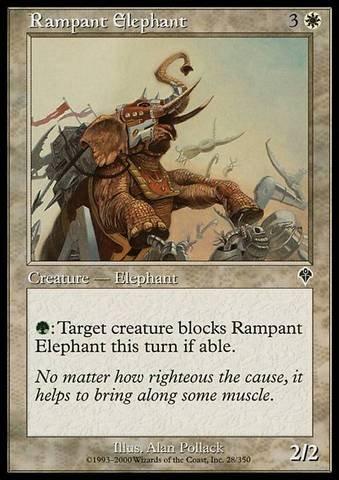 Rampant Elephant (Magic: the Gathering - Rampant Elephant - Invasion)