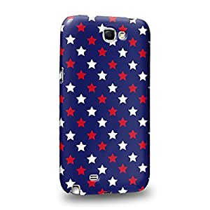 Case88 Premium Designs Art Americana USA Design Stars Blue Carcasa/Funda dura para el Samsung Galaxy Note 2