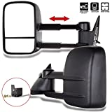 SCITOO Towing Mirrors for 1988-1998 Chevy GMC C1500 K1500 1988-2000 C2500 K2500 C3500 K3500 1992-1999 Suburban C1500 K1500 C2500 K2500 Tahoe Yukon 2000 Chevy Tahoe GMC Yukon Power Pair Mirrors