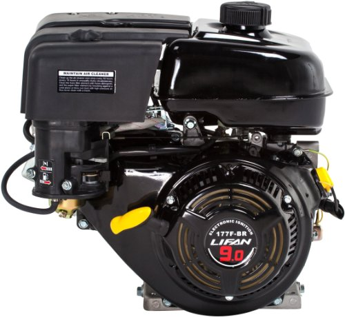 Lifan LF177F-BHQ 9 HP 270cc 4-Stroke OHV Industrial Grade Gas Engine with 6:1 Gear Reduction, Recoil Start and Universal Mounting Pattern by Lifan