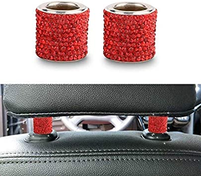 Bling Car Decor Headrest Collars Car Headrest Collars Car Garniture Giftware Charm Decoration Crystal Bling Car Charms Pink