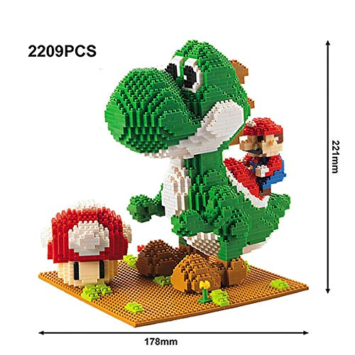 JJWW Dinosaur Nano Bricks, Mini Building Diamond Blocks Toy, DIY Animal Model Kit and Gifts for Kids and Adults, 2209Pcs
