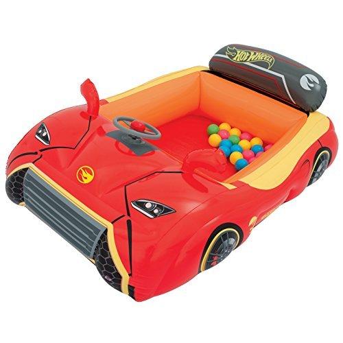 Bestway BW93404 Hot Wheels Children's Inflatable Car Ball Pit Includes 25 Balls [並行輸入品]   B07DPMTV2D